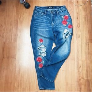 RARE high waisted vintage rose jeans!